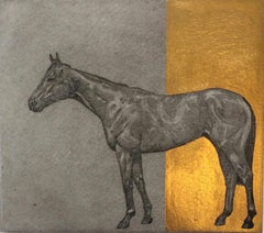 Guy Allen, Little Horse Gold, Limited Edition Etching, Gold Art, Equine Prints