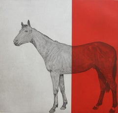 Hosre Study Red, Guy Allen, Bright Art, Red Art, Animal Art, ModernEquine Prints