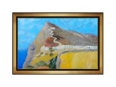 Guy Bardone Painting Original Oil On Canvas Mountain Landscape Signed French Art