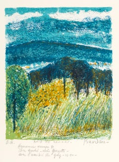 Baie de Sanary - Original Lithograph by Guy Bardone - 1981