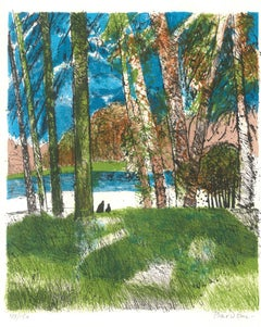 In The Wood - Original Lithograph by Guy Bardone .