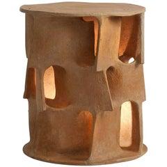 Guy Bareff Illuminated Ceramic Side Table, France, 2014