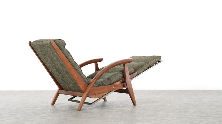Guy Besnard FS 134 Reclining Lounge Chair, 1954 for Free Span, France Prouvé 3