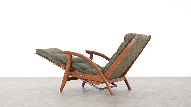 Guy Besnard FS 134 Reclining Lounge Chair, 1954 for Free Span, France Prouvé 9