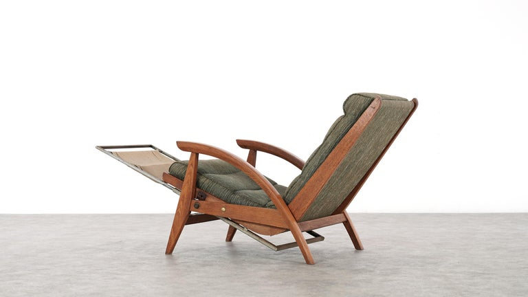 Guy Besnard FS 134 Reclining Lounge Chair, 1954 for Free Span, France Prouvé 10