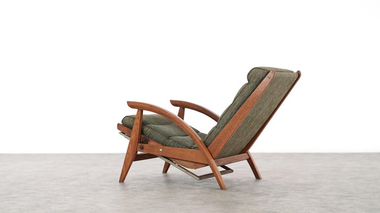 Guy Besnard FS 134 Reclining Lounge Chair, 1954 for Free Span, France Prouvé 11