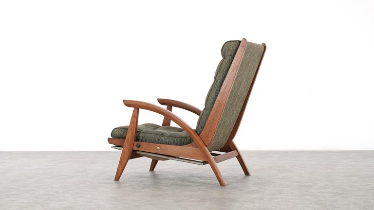 Guy Besnard FS 134 Reclining Lounge Chair, 1954 for Free Span, France Prouvé 12
