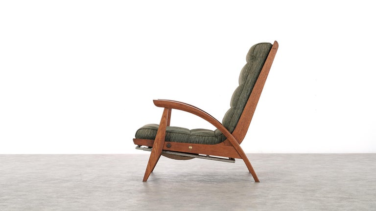 Mid-Century Modern Guy Besnard FS 134 Reclining Lounge Chair, 1954 for Free Span, France Prouvé