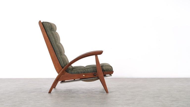 Guy Besnard FS 134 Reclining Lounge Chair, 1954 for Free Span, France Prouvé In Good Condition In Munster, NRW