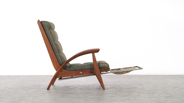 Mid-20th Century Guy Besnard FS 134 Reclining Lounge Chair, 1954 for Free Span, France Prouvé