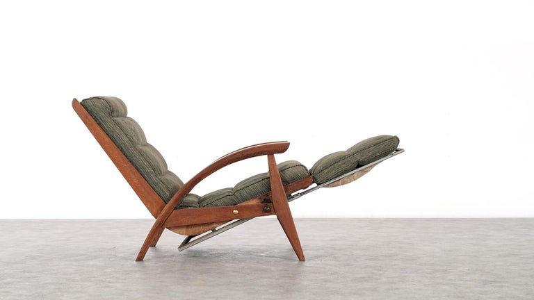Guy Besnard FS 134 Reclining Lounge Chair, 1954 for Free Span, France Prouvé 1