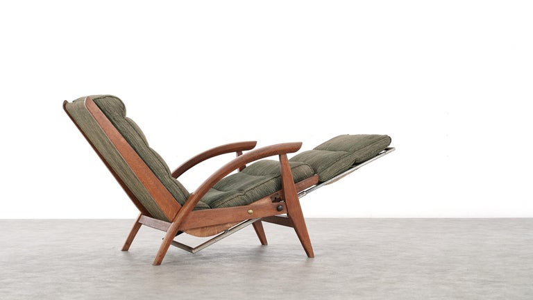 Guy Besnard FS 134 Reclining Lounge Chair, 1954 for Free Span, France Prouvé 2