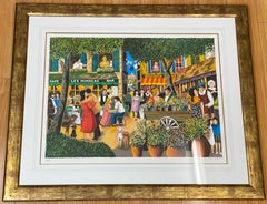"""Guy Buffet """"Springtime in Provence"""" Limited Edition Framed Lithograph 20th C."""