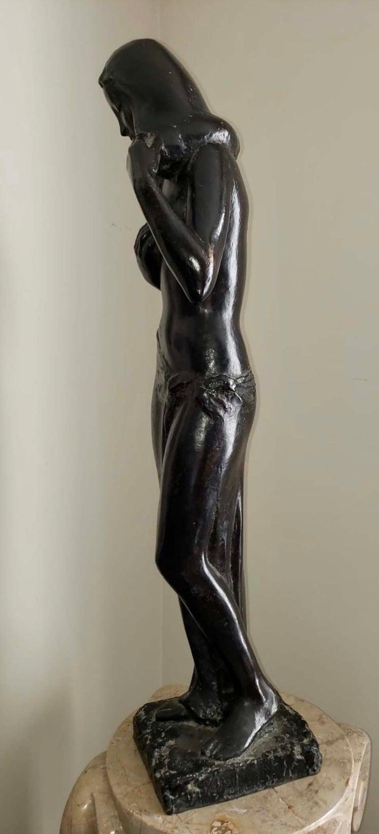 Venus - Gold Figurative Sculpture by Guy Charles Revol
