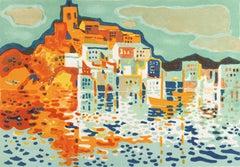 'Breton Harbor', Post-Impressionist Coastal Scene, Salon d'Automne, MAM Paris