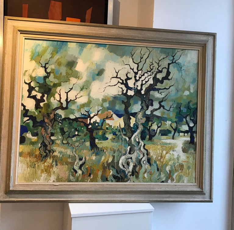 Paysage d'automne - Autumn landscape - Painting by Guy Charon