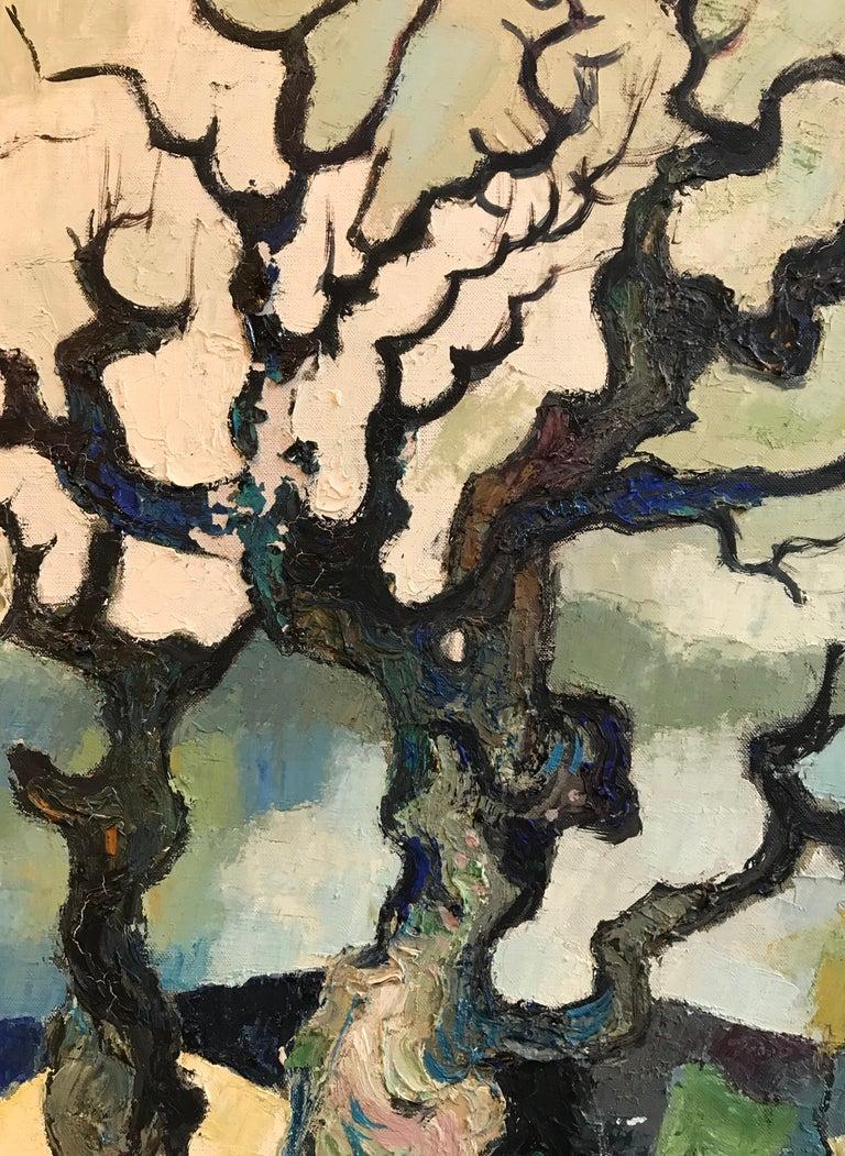 Paysage d'automne - Autumn landscape - Impressionist Painting by Guy Charon