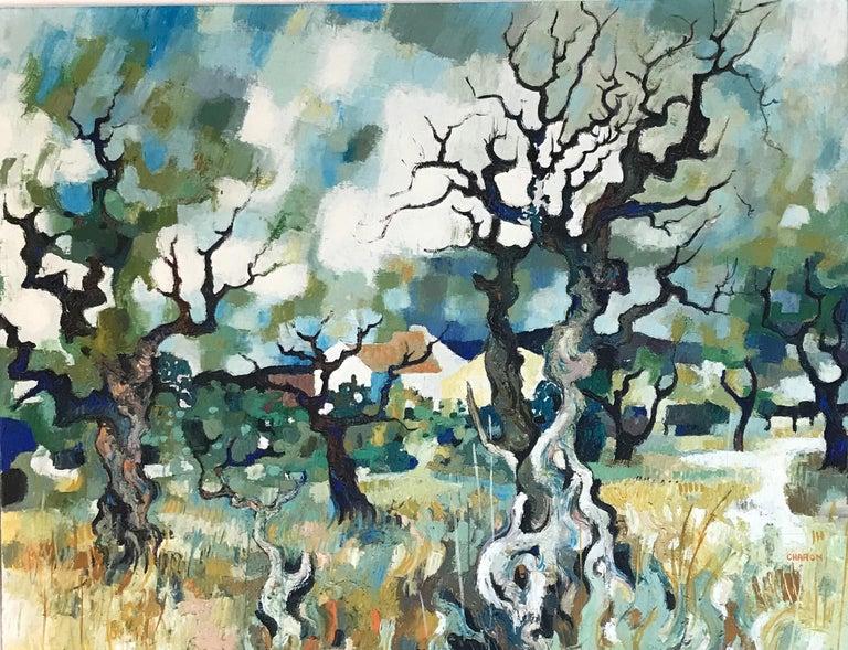 Guy Charon Landscape Painting - Paysage d'automne - Autumn landscape