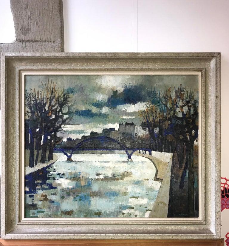 Pont de la Seine, Paris - Seine River Bridge, Paris - Painting by Guy Charon