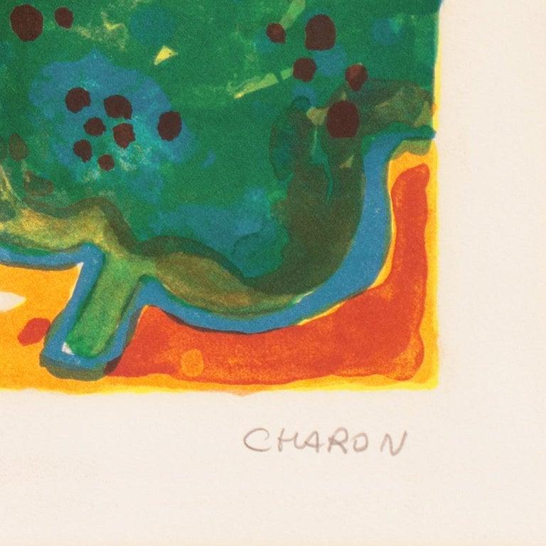 'Landscape with Village', Paris, Salon d'Automne, Musée d'Art Moderne - Post-Impressionist Print by Guy Charon