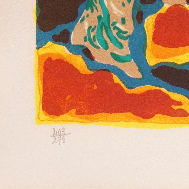 'Landscape with Village', Paris, Salon d'Automne, Musée d'Art Moderne - Blue Landscape Print by Guy Charon