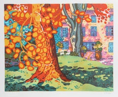 Backyard Tree, Lithograph by Guy Charon