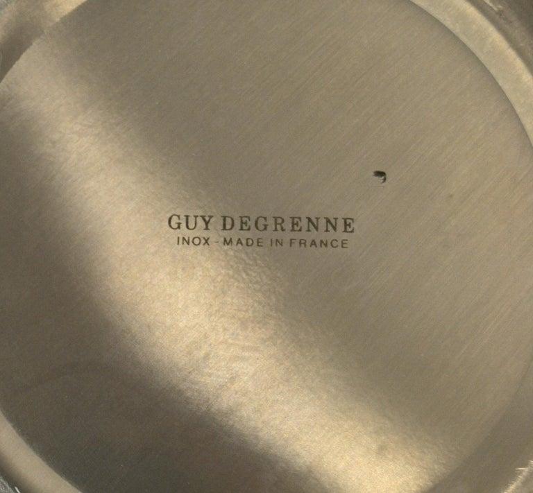 Guy Degrenne Inox Stainless Steel Modern Champagne Wine Cooler Bucket, France For Sale 5
