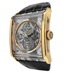 Guy Ellia 18 Karat Rose Gold Tourbillon Zephyr Skeleton Watch