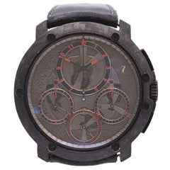 Guy Ellia 18k Black PVD and Titanium Jumbo Chronograph Watch Ref. OGN.RS.2388