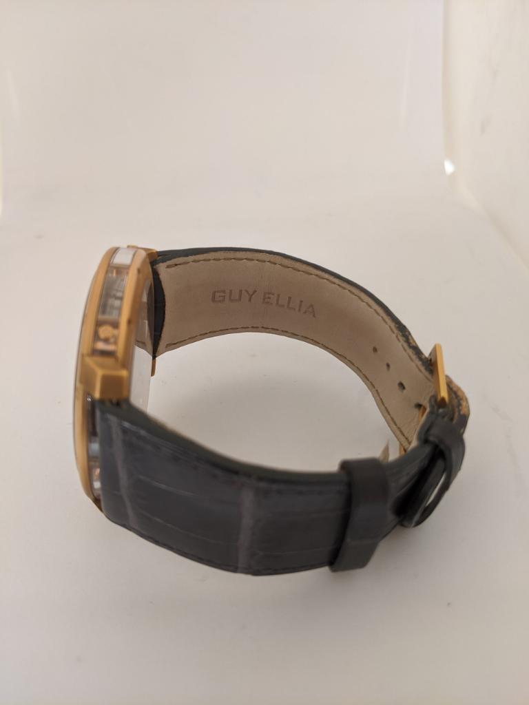 Guy Ellia 18 Karat Gold Time Space Quantieme Perpetual Calendar Watch, #2/200 For Sale 2