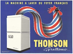 THOMSON Gyrathomic, Original horizontal French mid-century vintage poster