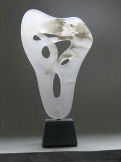 Liëren Liaise Alabaster Sculpture White Abstract In Stock