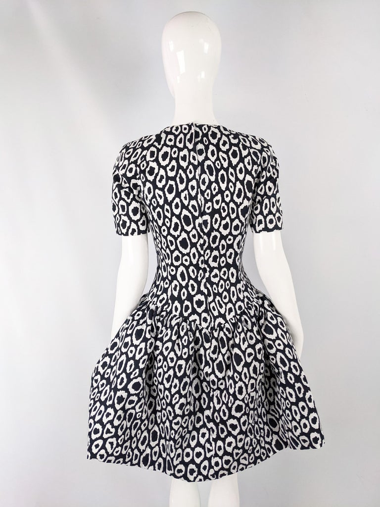 Guy Laroche 1980s Vintage Full Skirt Cotton Evening Dress For Sale 1