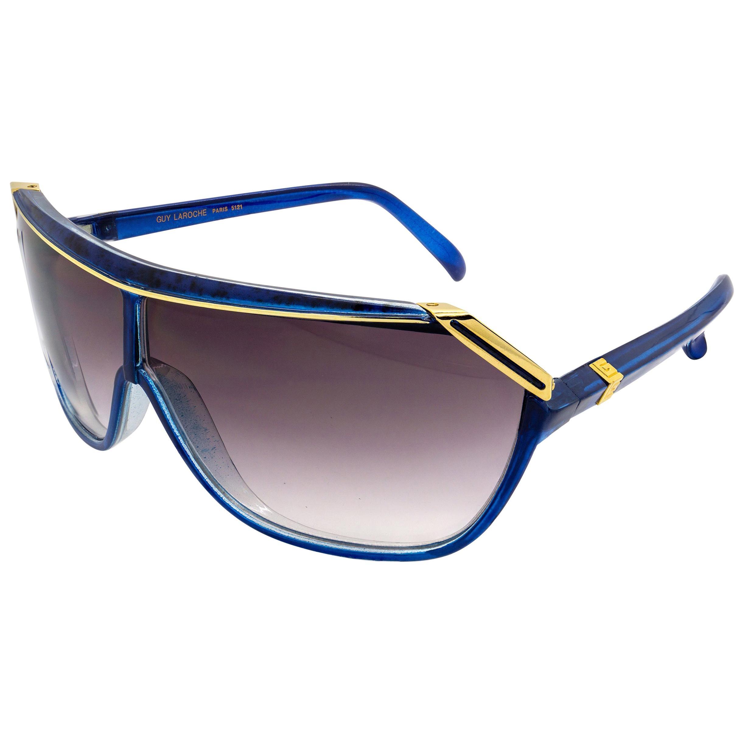 Guy Laroche blue vintage sunglasses, made in France