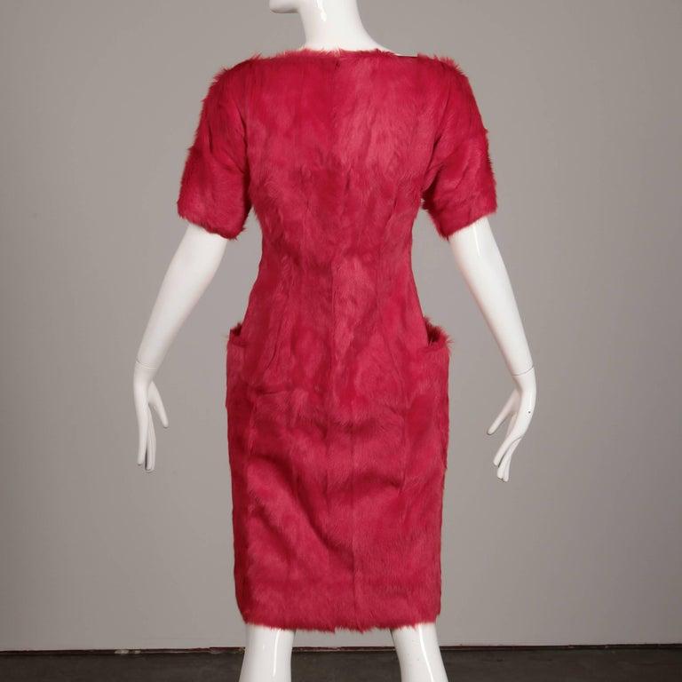 Guy Laroche Fur Dress For Sale 1
