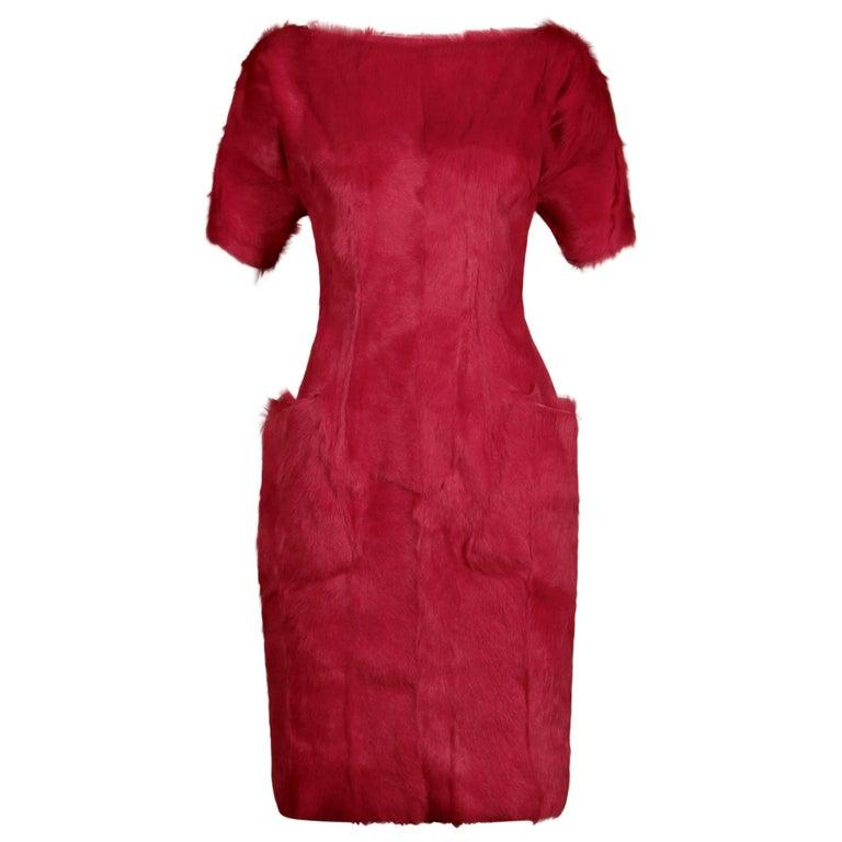 Guy Laroche Fur Dress For Sale