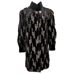 Guy Laroche Patterned Mink Jacket