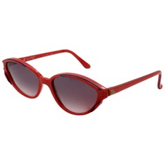 Guy Laroche red cat eye sunglasses