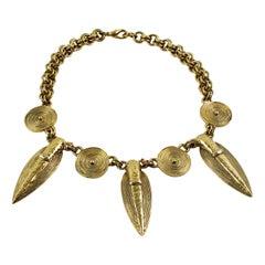 Guy Laroche Tribal Choker Necklace
