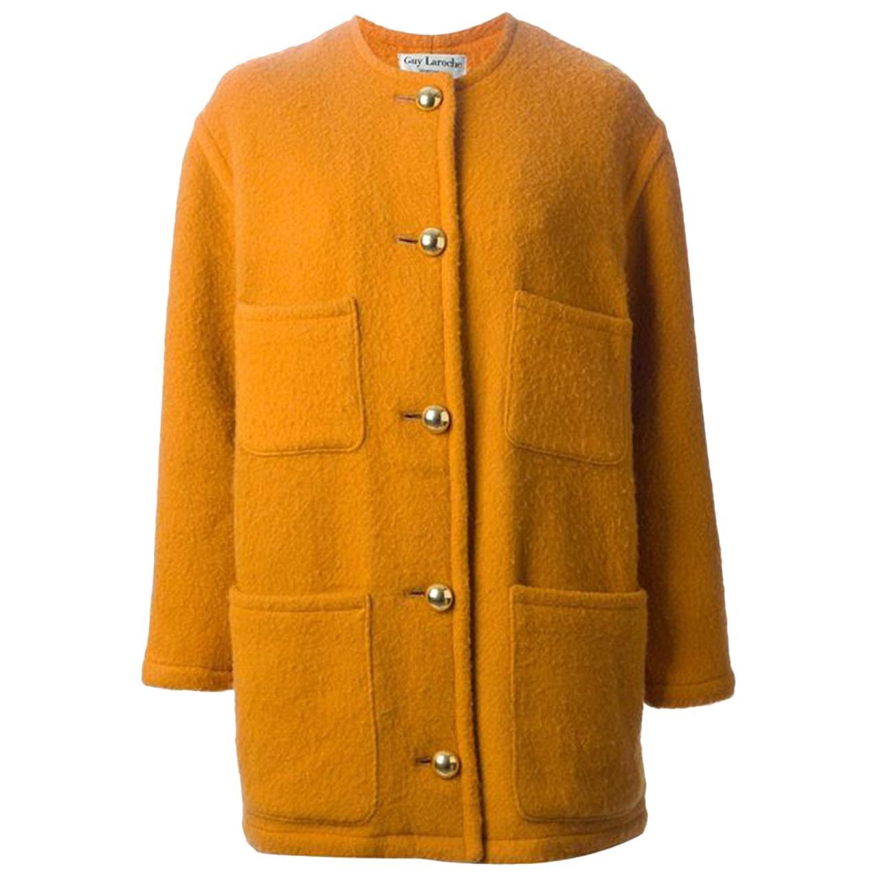 Guy Laroche Yellow Wool  Coat