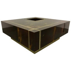 Guy Lefevre Brass & Laquer Coffee Table