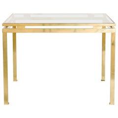 Guy Lefevre for Maison Jansen Brass Table, French