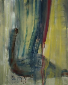 Bird (Norgous Bey's series) - Contemporary painting, semi-abstract