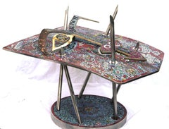 Purple Crash - Prince Mixed materials sculpture contemporary art Celebrity Icon