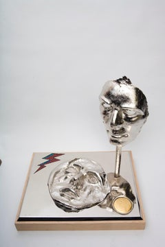Star Man - David Bowie table top contemporary Figurative sculpture Iconic Jewel