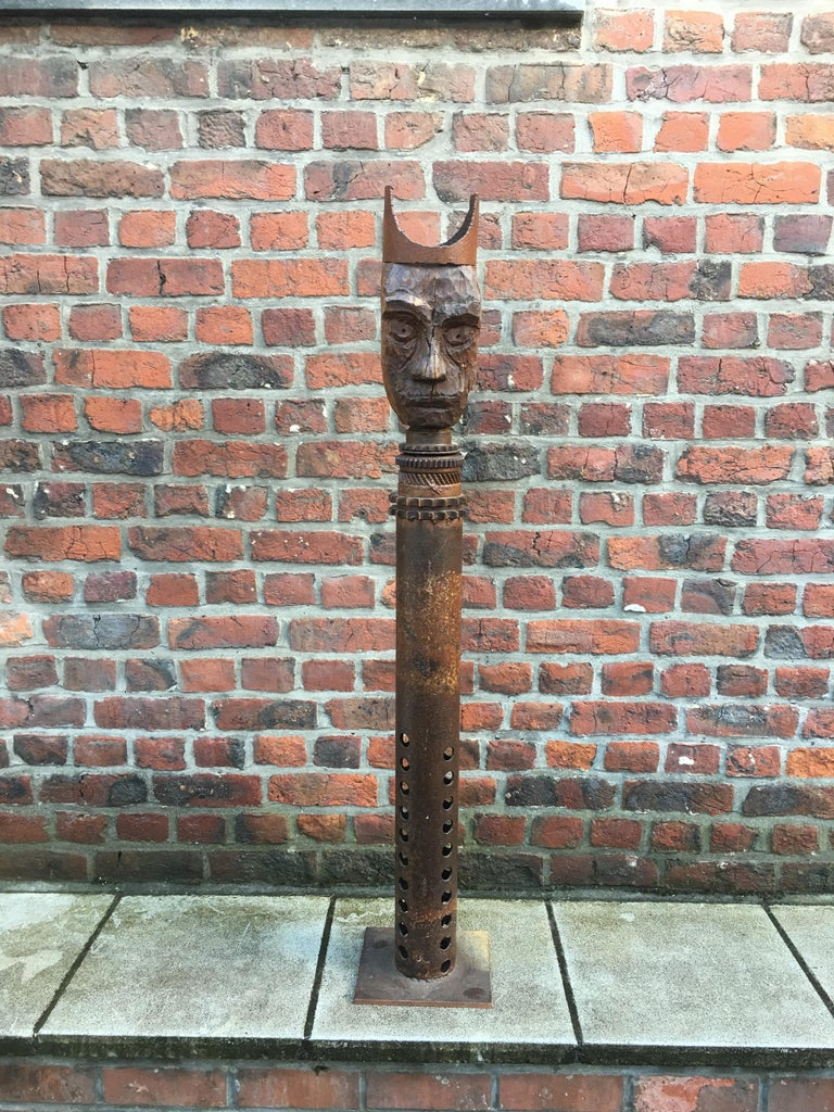 Modern Guylaine Guy '1929', Metal Assembly and Wood, circa 1980 For Sale