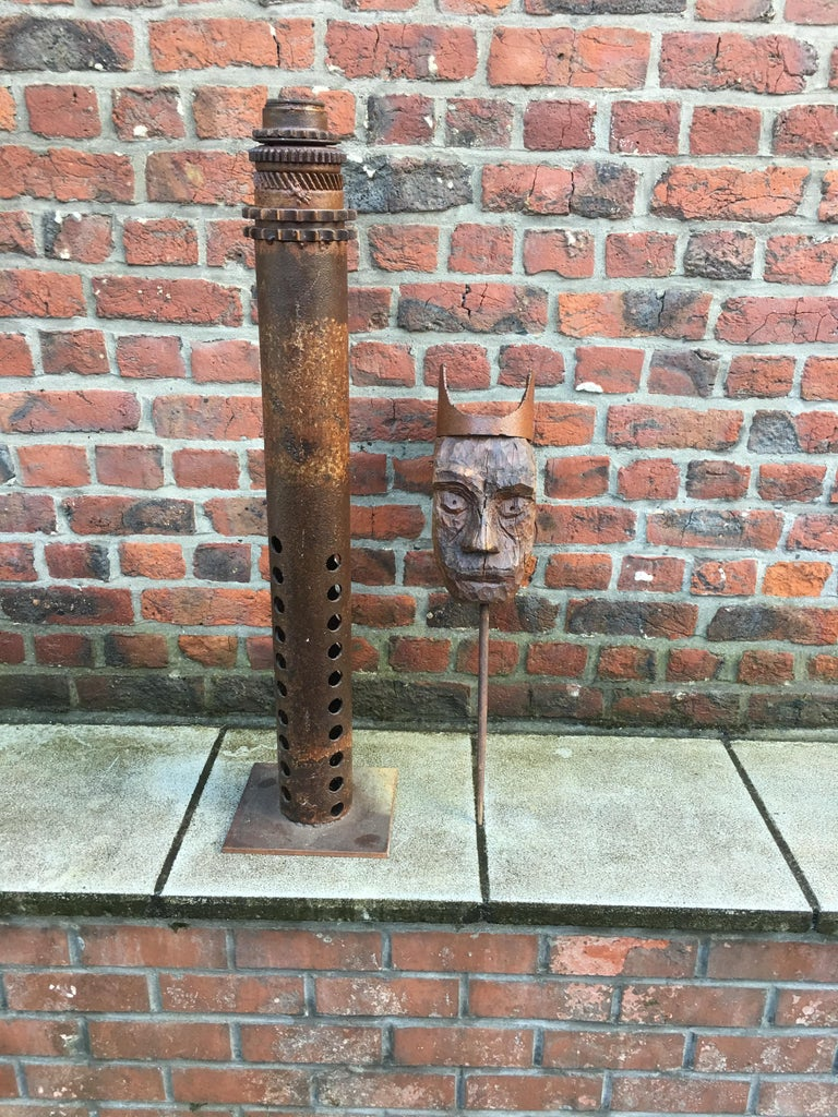 Guylaine Guy '1929', Metal Assembly and Wood, circa 1980 In Good Condition For Sale In Saint-Ouen, FR