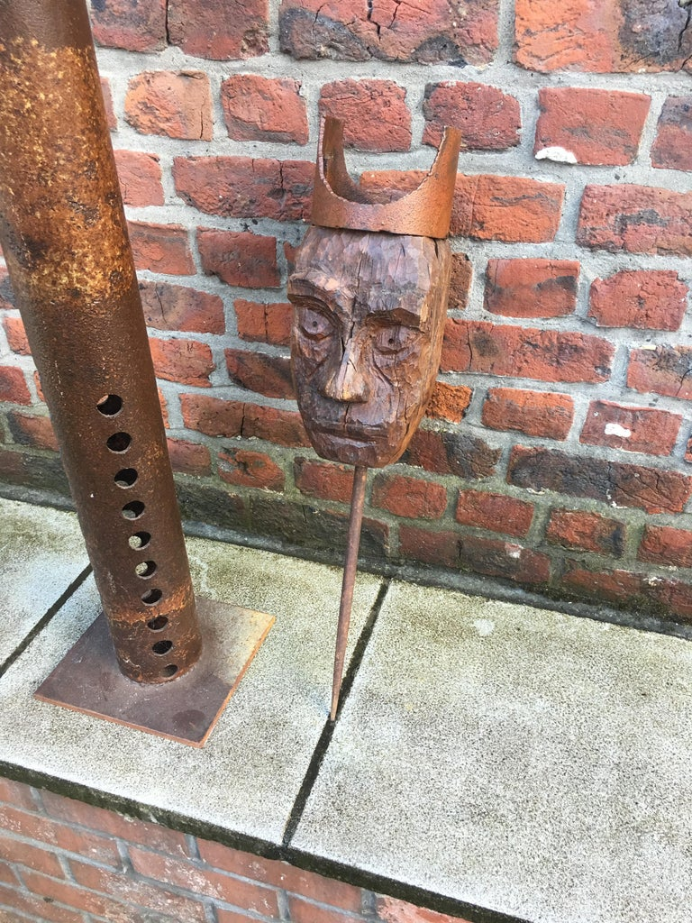 Guylaine Guy '1929', Metal Assembly and Wood, circa 1980 For Sale 1