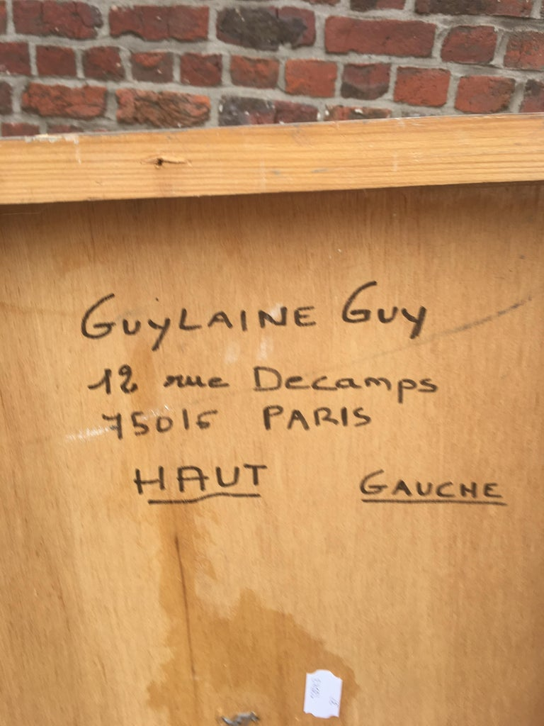 Guylaine Guy '1929' Mixed Technique On Panel, Back Left In Good Condition For Sale In Saint-Ouen, FR