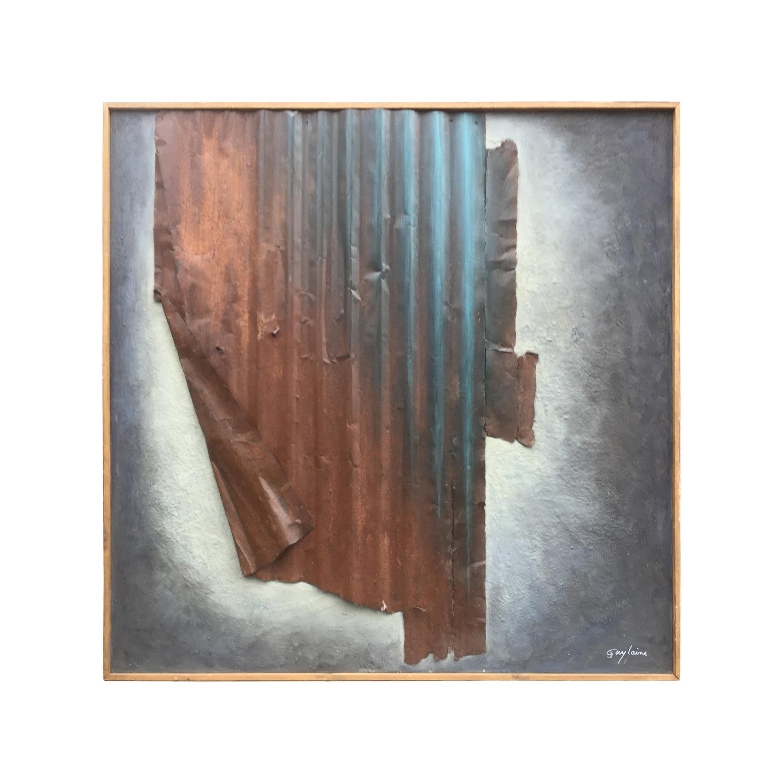 """Guylaine Guy 1929 Onirism, 1986 """"Technique Mixte"""" Large Format"""
